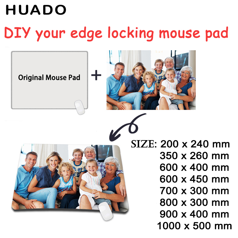 Pad Mouse Custom xl gamer grande Locking Edge Computer Keyboard Mat Table Mousepad Permainan