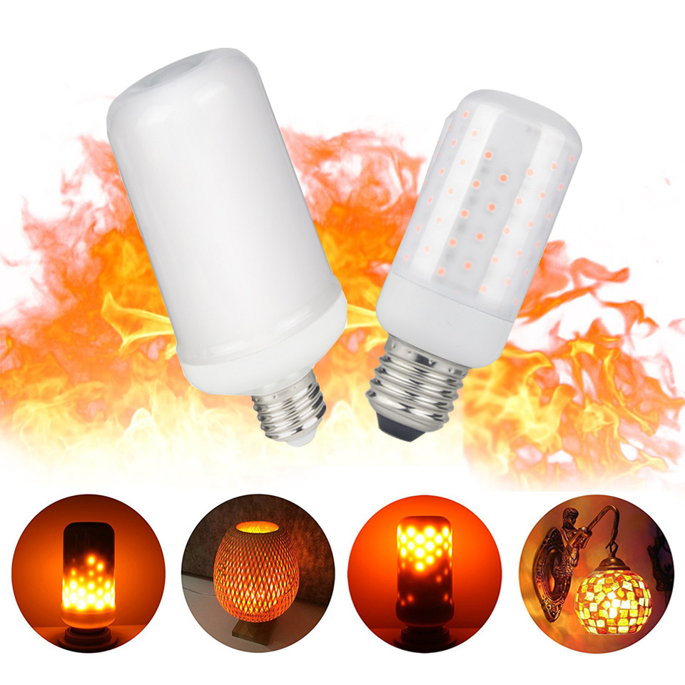 2018 New Arrival Led Flame Bulb E27 220V 110V 5W 7W E14 Led Flame Lamps Fire Effect For Holiday Chirstmas Decoration Fire Lights ...