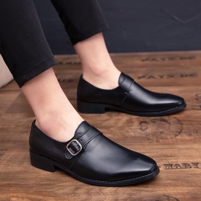 CIMIM Merk 2019 Italiaanse Heren Lederen Schoenen Big Size Luxe Jurk Schoenen Mannen Hoge Kwaliteit Kantoor Loafers Man Casual Wedding schoenen