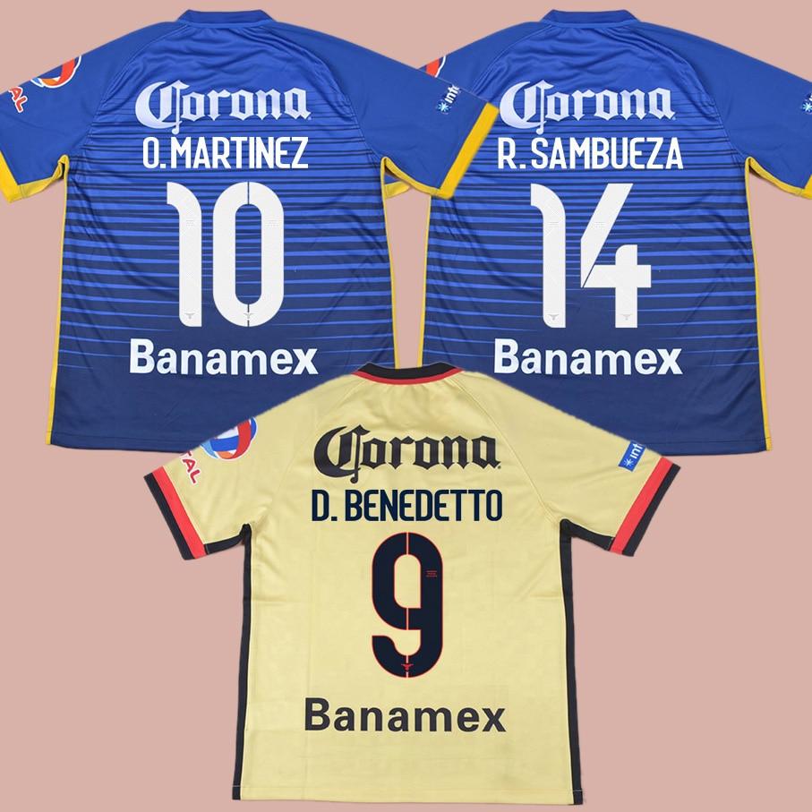 b48e58c28 2015 2016 Club America Aguilas Jersey camisa de futebol longe o. Peralta r.  Sambueza e. Aguilar d. Benedetto o. Martinez-in Soccer Jerseys from Sports  ...