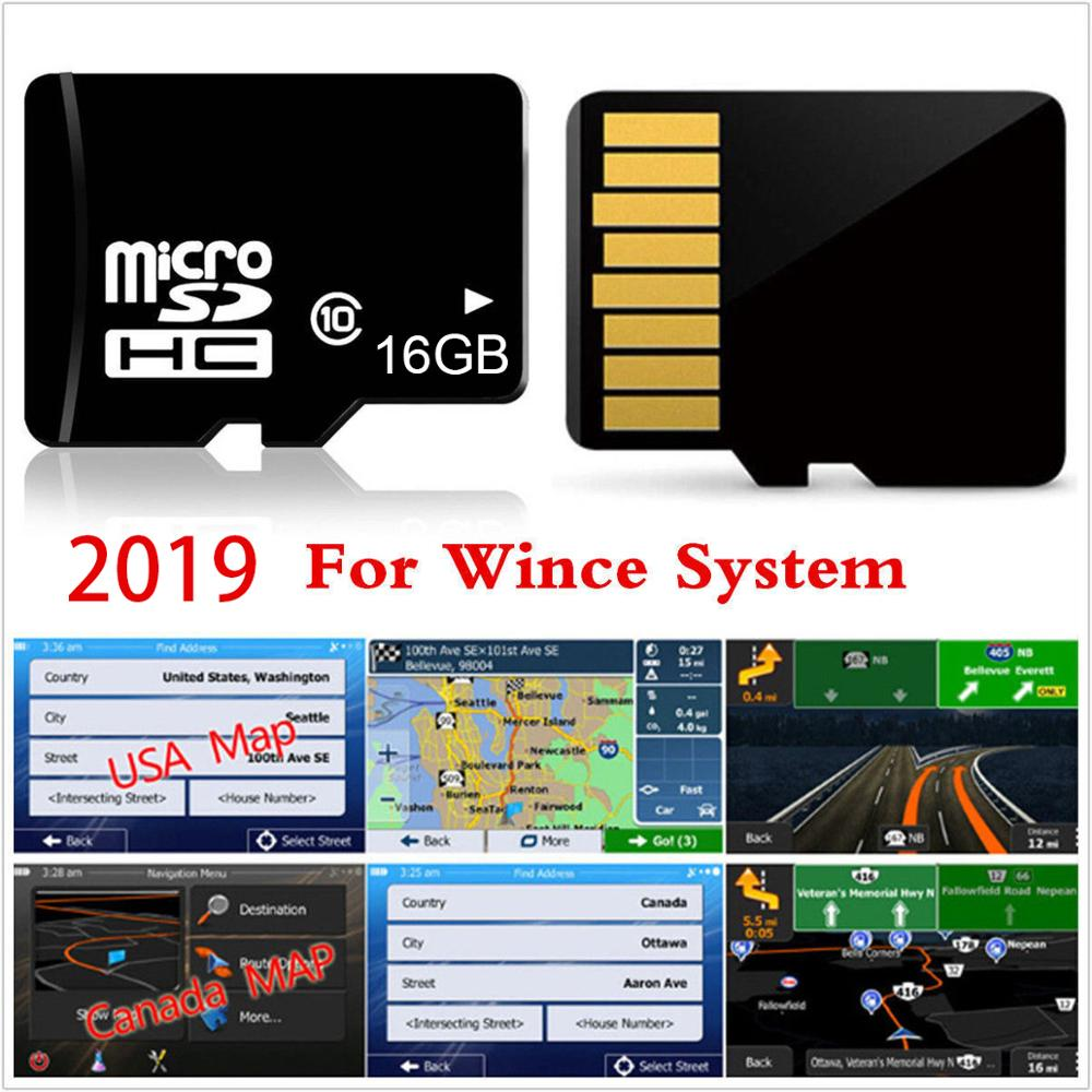Latest GPS maps USA Mexico Canada for WINCE system device micro sd card  8GB
