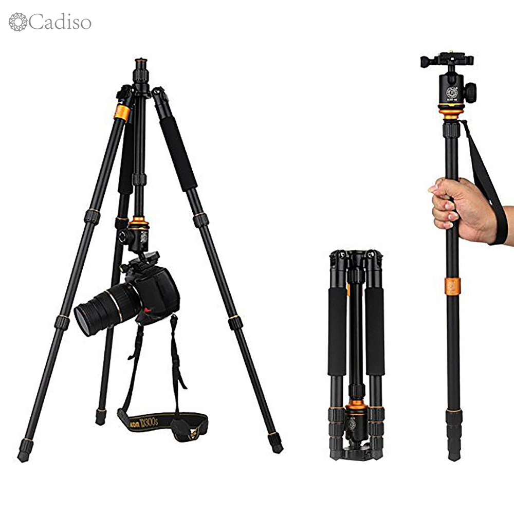 Cadiso Professional Photography Portable Tourism Work Tripod Monopod For Camera Digital SLR Smartphone With Panorama Ball Head