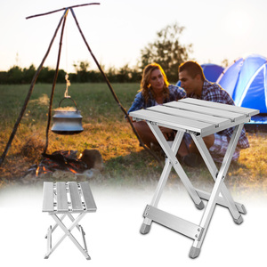 Multifunction Folding Stool Aluminum Alloy Outdoor Scratch Resistant Portable Chair Fishing High Intensity Convenient Camping(China)