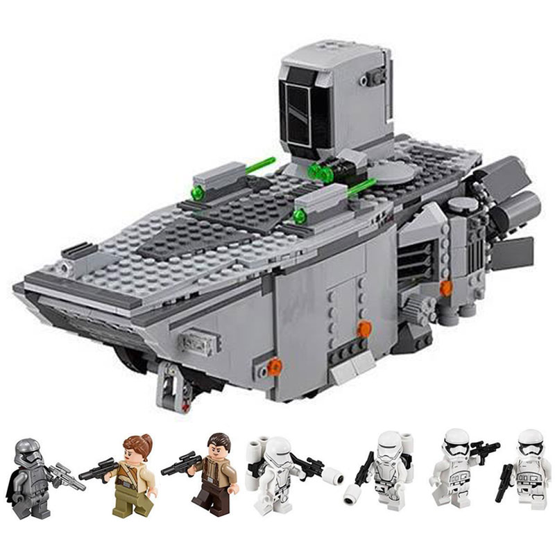 LEPIN 05003 Star 1 Wars First Order Transporter Model Building Block Toys Educational Children Gift Compatible LegoINGlys 75103 hot sale building blocks assembled star first wars order poe s x toys wing fighter compatible lepins educational toys diy gift