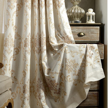 Curtains for Living Dining Room Bedroom Yage Cotton Embroidery Curtain Fabric Simple European American Pastoral Village E