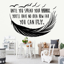 Classic phrase Wall Stickers Personalized Creative Bedroom Nursery Decoration Decal Mural