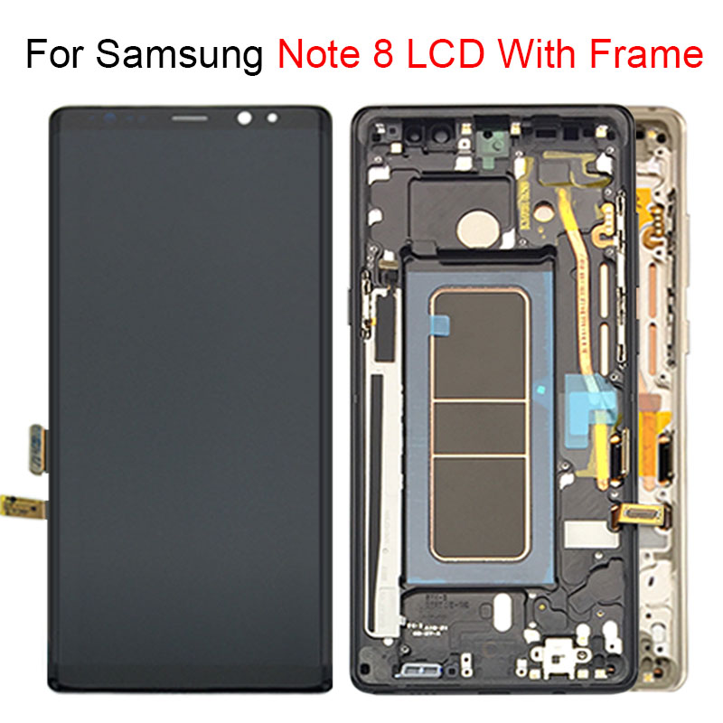 6.3 LCD Display with Frame For Samsung Note 8 Touch Screen Digitizer Assembly For Samsung Galaxy N9500 N950F N900D N900DS LCD