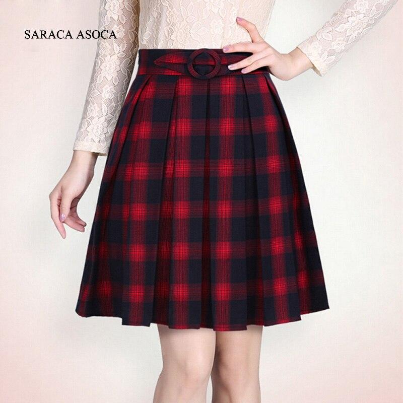 new autumn vintage student plaid skirt