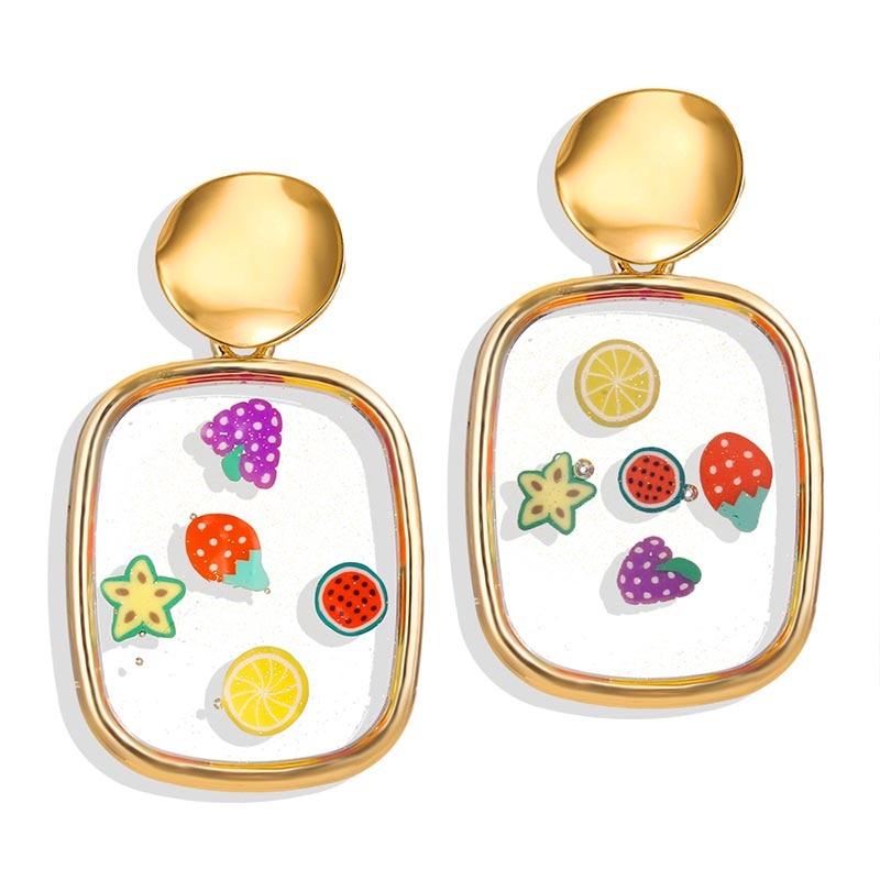 Fashion irregular geometric earrings women girls heart round crystal pearl design dangle drop earrings Vintage gold jewelry gift in Drop Earrings from Jewelry Accessories