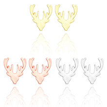Fashion Creative Earrings Sweet Romantic Gold And Silver Ladies Animal Reindeer Elk Antler Student Jewelry