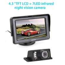 CARCHET Car Rear View Kits 4.3 inch TFT LCD Car Rearview Monitor IR Reversing Backup 7 LED Night Version Camera High Quality