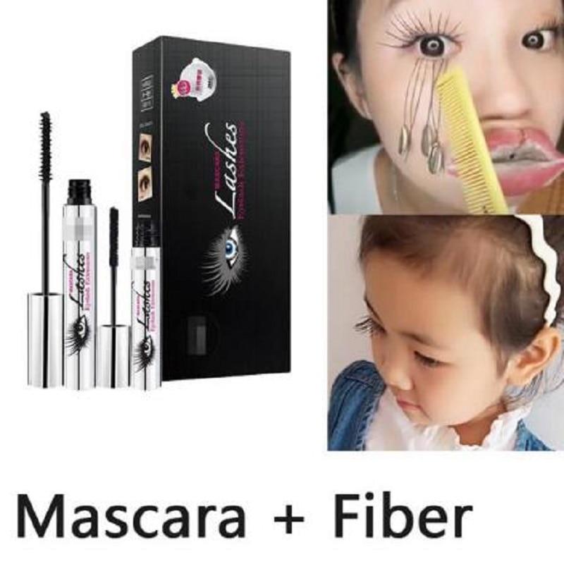 Magic Black Silk Mascara Makeup Set DiDiCat Eyelash Extension Lengthening Volume 2pcs/lot 4D Fiber Mascara Waterproof Cosmetics