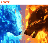Wolf Animal Painting Picture By Numbers DIY Pictures Canvas Oil Painting No Frame Or With Frame