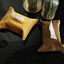 Soffe High Quality Towel Napkin Tissue Box Embroidery Velvet Set Vehicle Paper Extraction Household Accept