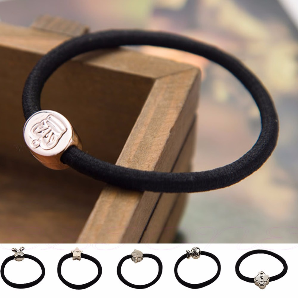 10 pcs girl Women Tail Elastic Hair Band Tie Rope Rubber Ring Ponytail Holder Rubber band Randomly send color