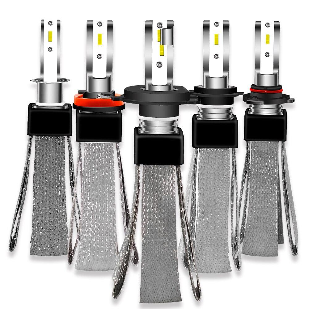 2 Year Warranty 8000 Lumen/Pair H4 H7 LED Headlight Bulbs CSP chips H1 H8 H9 H11 Car Light 12V 24V 36V 6000K Fog Light