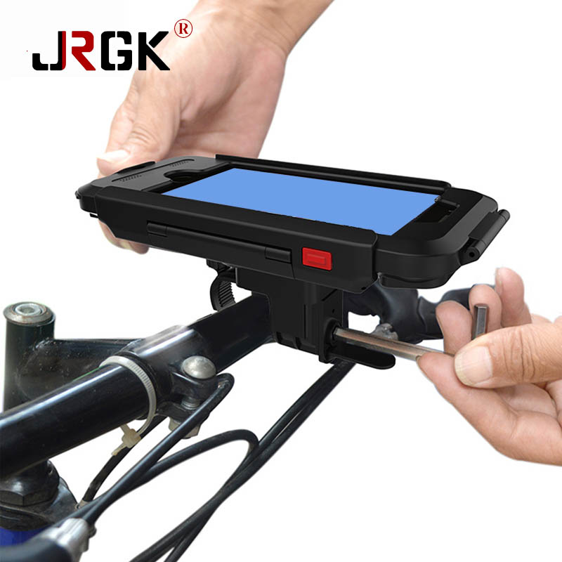JRGK Sport Waterproof Phone Cases Puch Bag For <font><b>iPhone</b></font> 5 iPhone6/6s Mountain Bike Bicycle Motorcycle Handle Bar Mount Holder