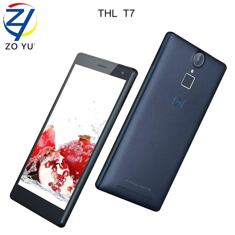 Цена за T7 thl смартфон 3 г ram + 16 г rom lte4g отпечатков пальцев мобильный телефон окта ядро 5.5 дюймов hd 4800 мАч старший телефон 13.0mp сотовый телефон