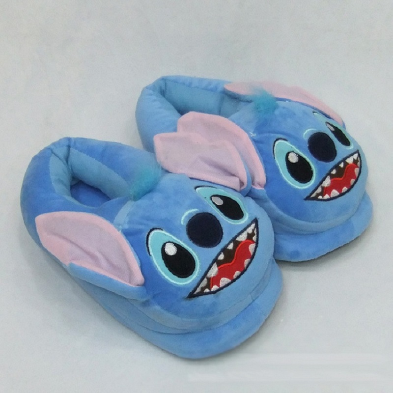 Pink Green Lilo and Stitch Stitch Cosplay Adult Plush Shoe Slippers Blue