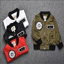 4 Colors Kids Spring Autumn Jacket Thin Coat Toddler Boys Baseball Uniform Bomber Jacket For 1-6T Children Outwears Tops