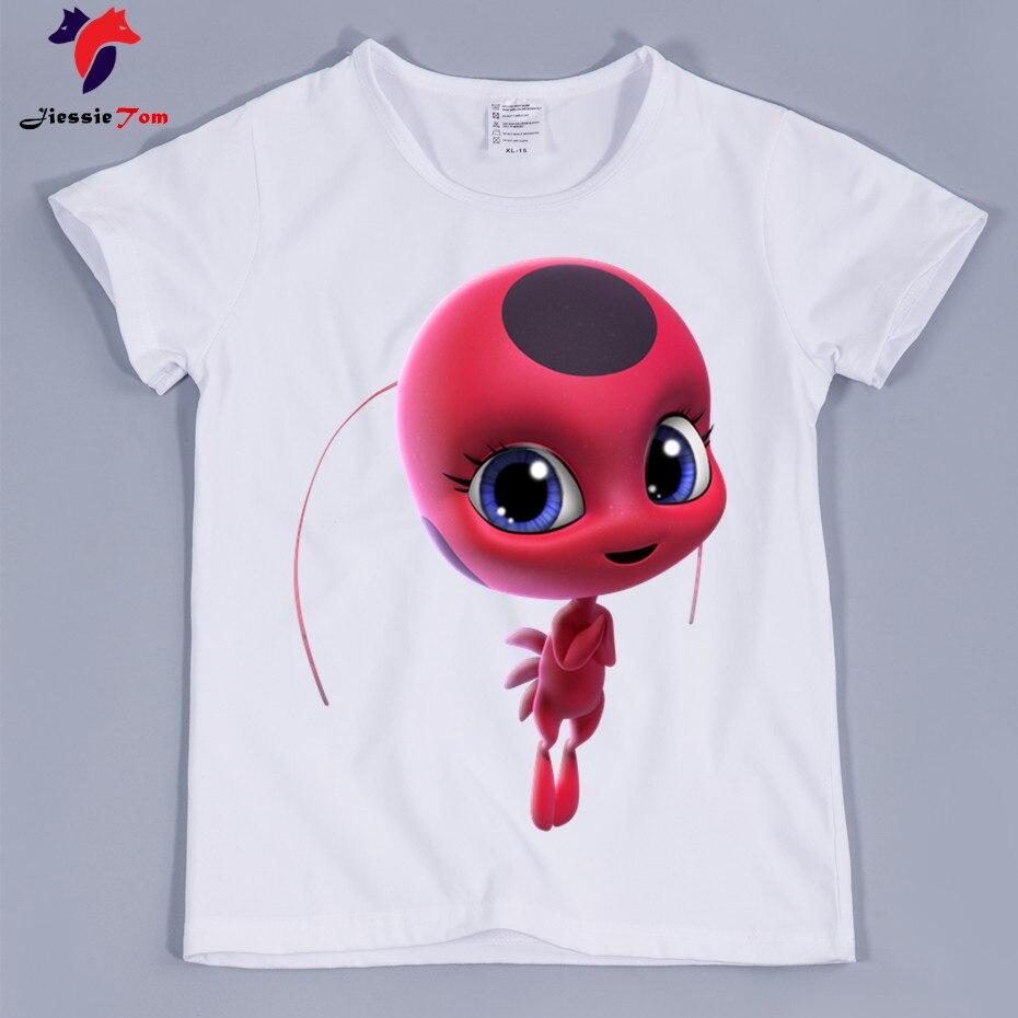 Best качество, малыша 3D Чудесное Божья коровка милые футболки с рисунками из мультфильмов для мальчиков и девочек аниме забавная футболка Оде...