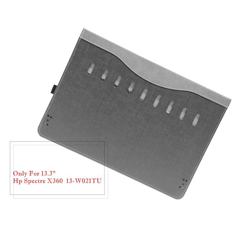 Housse d'ordinateur portable détachable pour Hp Spectre X360 13.3 pouces Design créatif étui à manches en cuir Pu stylet de peau comme cadeau - 6