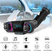 Bluetooth Car Kit Handsfree FM Transmitter Wireless AUX Audi