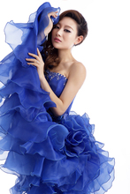 Strapless Beading Ruched Wedding dress
