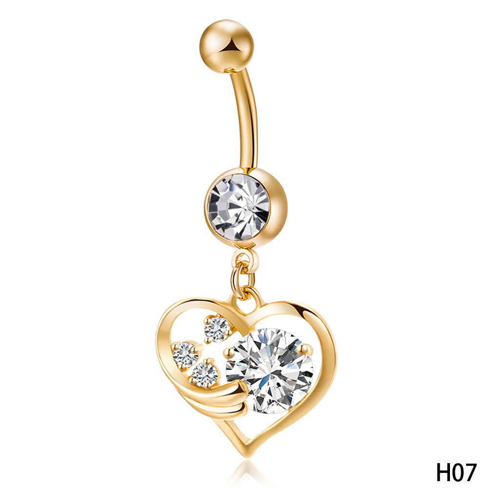 Navel Belly Button Ring Medical Steel Products Gold Color Piercing Vogue