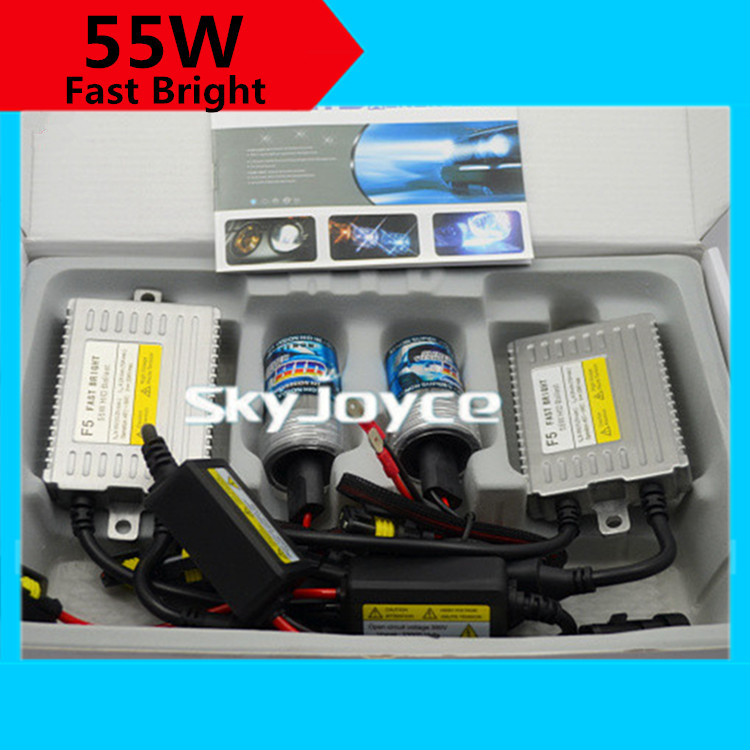 ФОТО 1 set super fast bright hid xenon kit F5 55W xenon hid H3C H7C 9012 HIR2 H16 5202 H7R  fast xenon hid kit better than halogen