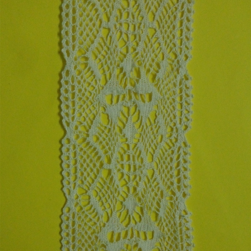 Crochet Garment Flower Design Women Lace 5 cm High quality 2 yards Cotton Lace Edge Theory Sweater Side Diy 5CM Lace