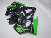 Nuevo caliente carenado kit para Kawasaki Ninja ZX6R 98 99 negro verde carenados conjunto ZX6R 1998 1999 OT14