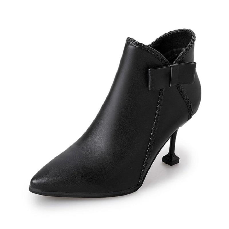 2018 Desnudas Zapatos Las Los Otoño Con Botas Alto Punta Salvaje Corto Nuevas Tacón Y Mujeres 1 Fina Invierno De El 1qUPYw0