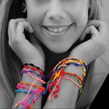 Мода один ручной работы счастливый шнур Оплетка вязаные четки браслеты нейлоновая нить крест дружбы браслеты MB04