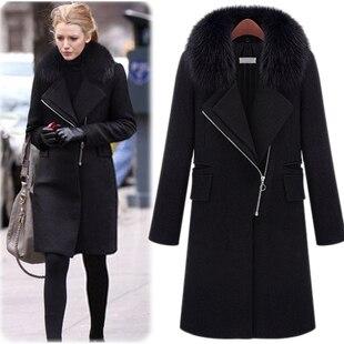 DaJane Real Fur Nature Fur Real Rabbit Fur Collars  Winter Coat Wool Gossip Girl Female Cultivate Morality Coat Outwear