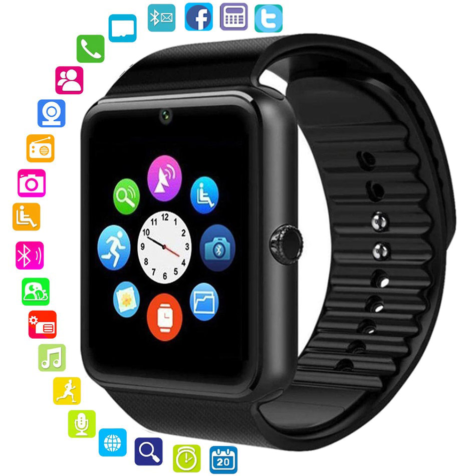 Bluetooth Smart Watch Men Women Message Remind Health Camera Pedometer Touch Run Sport Watch Support TF Sim Card For Android IOSBluetooth Smart Watch Men Women Message Remind Health Camera Pedometer Touch Run Sport Watch Support TF Sim Card For Android IOS