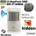 1080 P mini cámara ip wifi 940nm led de Seguridad Pir Cámara de Red kam ir de visión nocturna cámara ip motion detector mini ip wi-fi cam