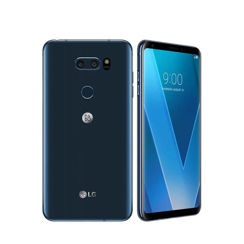 """Разблокированный LG V30 6,"""" Qualcomm835 4 Гб ОЗУ 64 Гб/128 Гб ПЗУ двойная задняя камера(без иврита/польского языка - Цвет: Синий"""