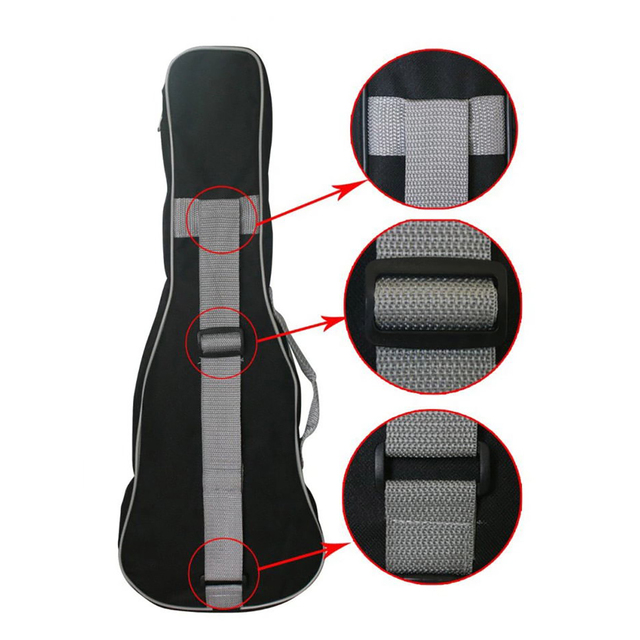 Double Zippered Padded Ukulele Bags