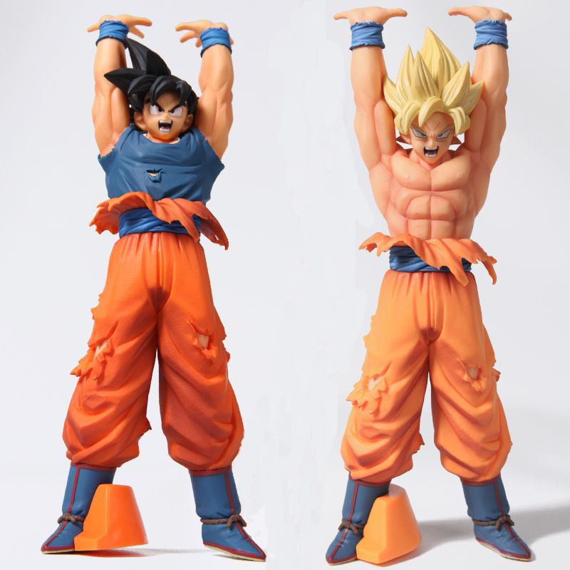 Anime Dragon Ball Z Goku Genki Dama Spirit Bomb Action Figure Brinquedos Dragonball Figures Collection Model Model Toys Juguetes 24CM