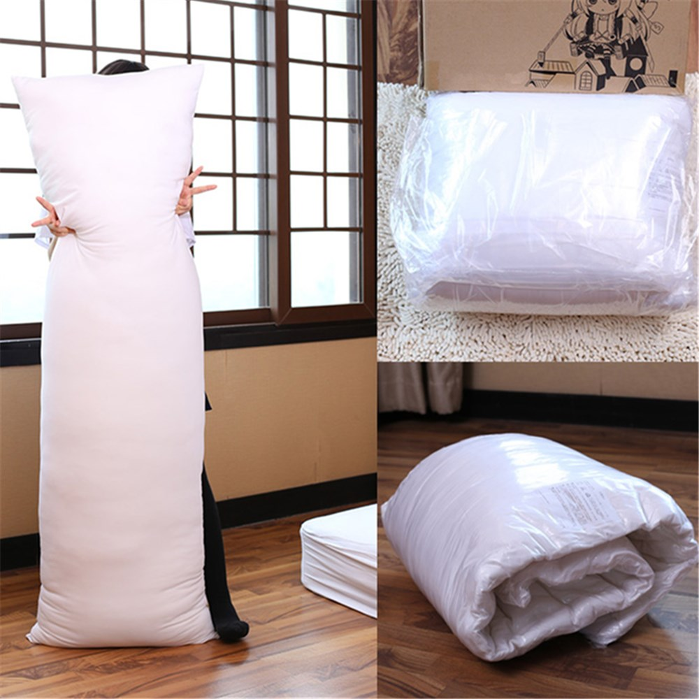"""72/"""" 200 Thread Count 6ft Bolster Body Pillow Case Polycotton in White or Ivory"""
