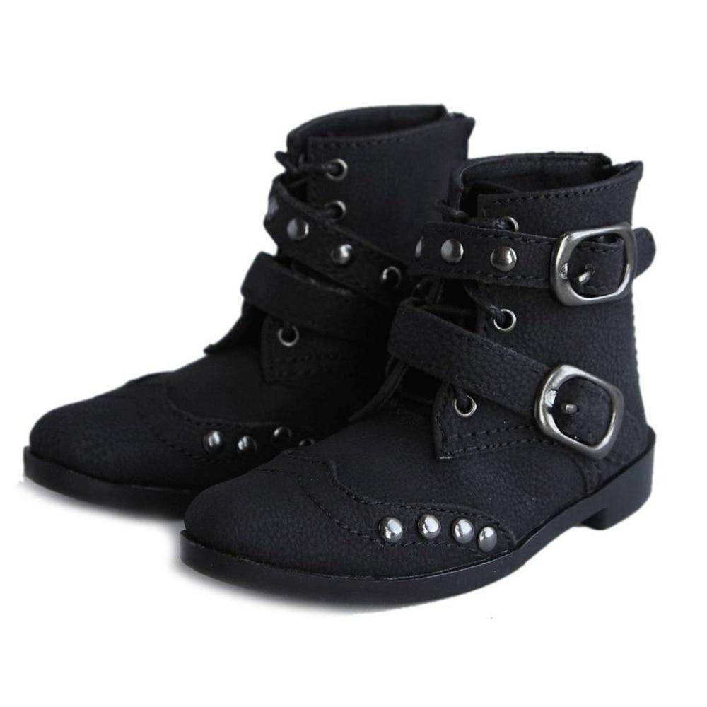 [Wamami] 19 # المسامير السوداء قاطرة 1/3 SD BJD Dollfie الجلود الاصطناعية أحذية / أحذية ~ 9CM