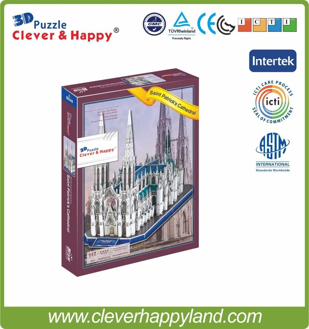 117pcs 3D papir puslespill Saint patrick katedral, puslespill - Puslespill - Bilde 2
