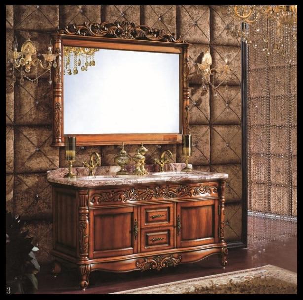 paese stile classico antico doppio lavabo mobiletto del bagno doppio ...