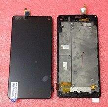 100% probado pantalla lcd + el panel de tacto digitalizador con marco para zte nubia z5s mini nx403a nx404h negro envío gratis