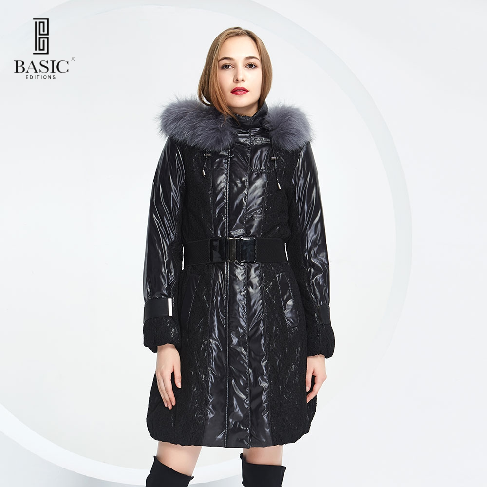 BASIC-EDITIONS new warm fur Cotton Coat jacket Fox Fur Winter woman coat - 11W-36 туфли basic editions туфли