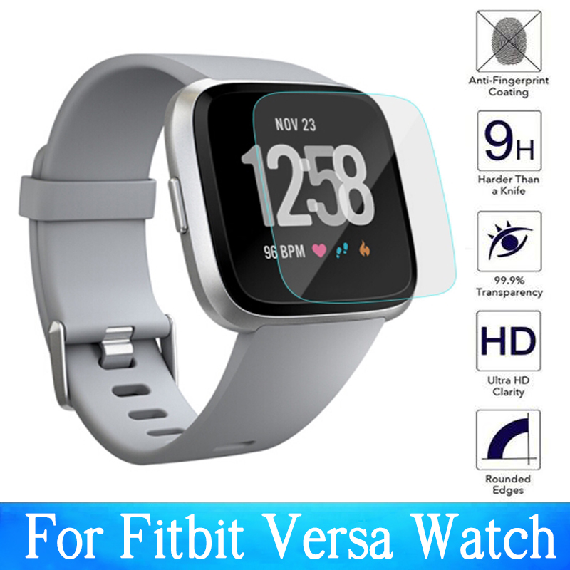 Pcs/2 Pcs Screen Protector Protective For Fitbit Versa Tempered Glass Smart Watch Film Protection Clear Protect Cover Glas Case
