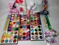 2013 new 18 Acrylic Powder hexagon strip French tips Glitter sanding File Brush Rhinestones Tweezer Art Set Kit