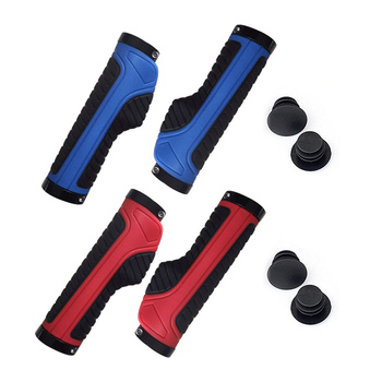 1 pair of bicycles grasp rubber slip lock sleeve MTB bicycle lane ergonomic BIcycle handle grip bicycle accessories