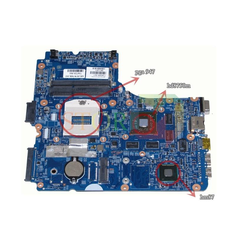 NOKOTION For Hp Probook 440 G1 Laptop Motherboard 734084-501 12241-1 48.4YW03.011 Socket PGA 947 For HD8750 DDR3L